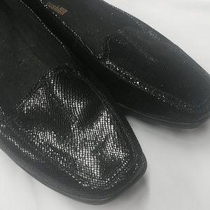 Clark's- Black glitter classic loafers- Size 11.